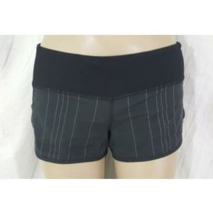 Lululemon Black Reflective Stripe Speed Shorts 2